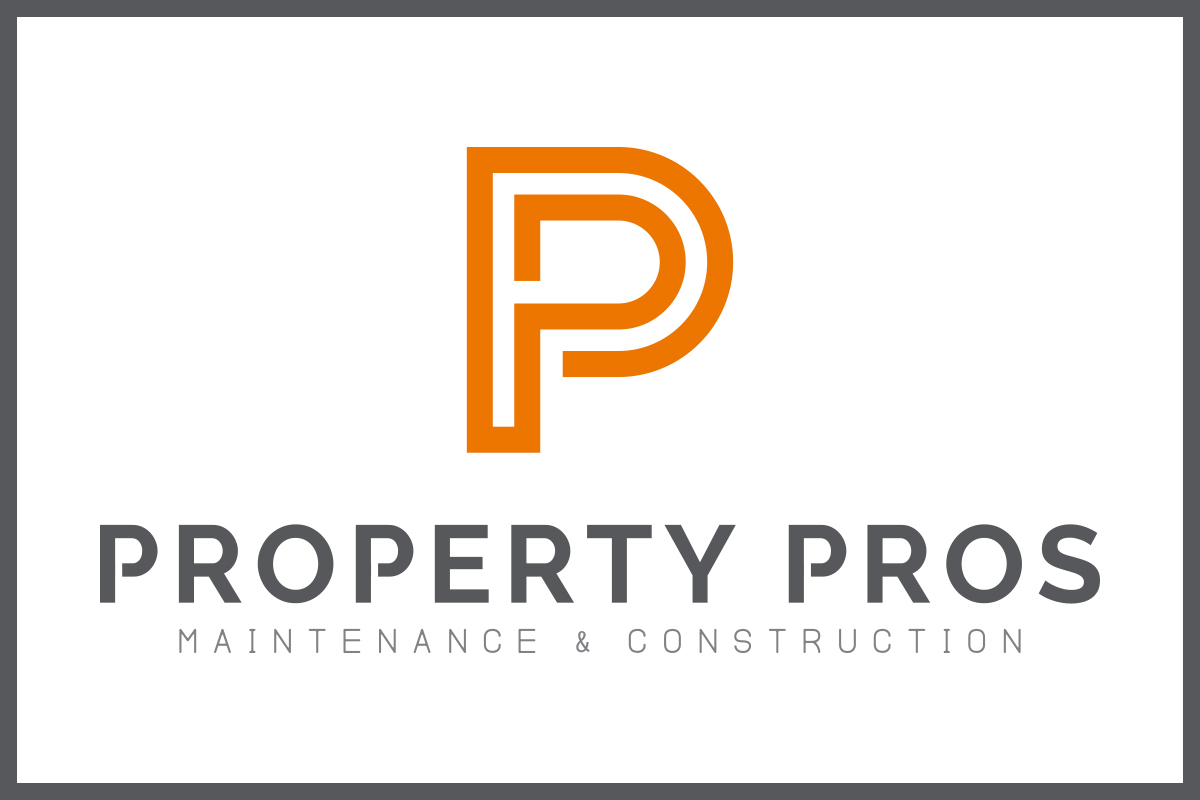 "Logo and text: ""Property Pros Maintenance & Construction"""
